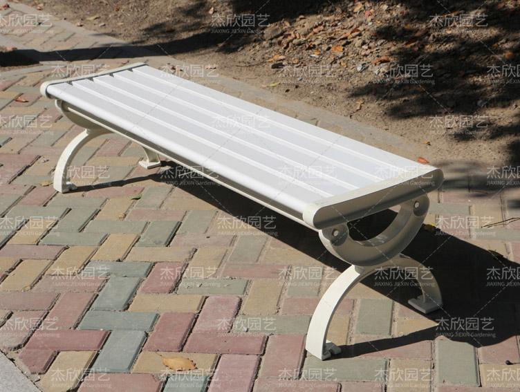 白色定制铝合金公园椅休闲椅